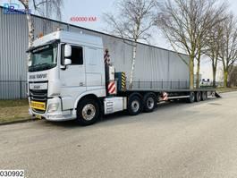 flatbed semi trailer Burg open laadbak 6x2, EURO 6, Hydraulic, Mega, Jumbo, Combi 2003