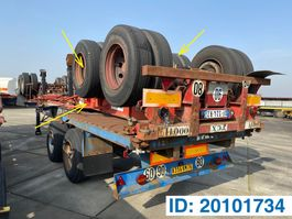 container chassis semi trailer Fruehauf Skelet 20 ft 1977