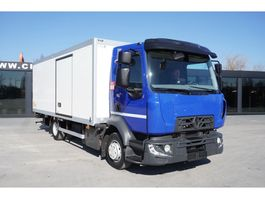 refrigerated truck Renault D 12-210 , E6 , 4X2 , 60.000km , 14 EPAL , side door , tail lif 2017