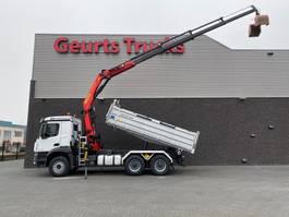 tipper truck > 7.5 t Mercedes-Benz Arocs 3346 6x4 KIPPER/TIPPER + PALFINGER KRAAN/KRAN/CRANE/GRUA 2019