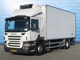 refrigerated truck Scania P230 DB4X2MNA | COOLING BOX  | TAILGATE DHOLLANDIA 3000KG | CARRIER COOLING | MANUAL GEARING 2004