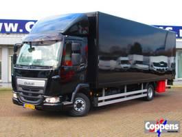 closed box truck DAF 45 LF 220 Bak+Klep E6 Automt 2017