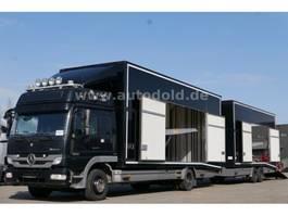 car transporter truck Mercedes-Benz Atego 1229 Autotransport mit Moetefindt Anhänger 2013