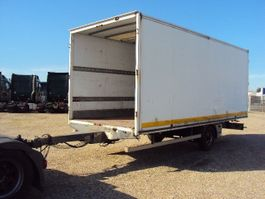 closed box trailer Kögel 1 achs Koffer durchlader 4,5 to luft Portal 6m 2003