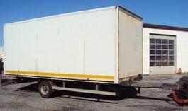closed box trailer Kögel 1 achs Koffer 4,5 to luft Portal 6m 2003