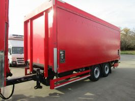 drop side full trailer spier 2-Achs TANDEM-Anhänger Getränkepritsche LBW 2 T 2012