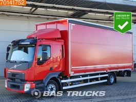 sliding curtain truck Volvo FL240 4X2 Top Condition! 19 Tons Automatic LBW 2x Tanks Euro 6 2017