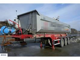 tipper semi trailer Norslep 3 axle Tippsemi Quadro with vibrator and sliding a 2018