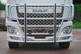 bullbar truck part DAF BULLBAR RVS ONGESPOTEN MET RUBBERS