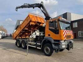 crane truck Iveco Eurotrakker 380 trakker 380 6x6 2005 bj hiab 122 hipro radio control 2005