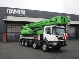 crane truck Scania P 410 CB 8x4 Sennebogen HPC 40 2017