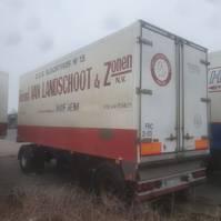 closed box semi trailer LAG A-20 RHZ 1991
