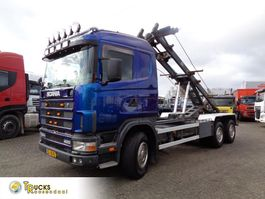 container truck Scania R400 124G + Manual + PTO + Kipper system 1998