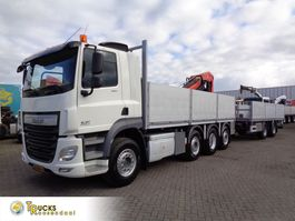 platform truck DAF CF 460 Combi Pacton MXD220 + 8X2 + Manual + Euro 6 + Palfinger PK 18500 2017