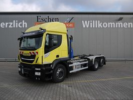 container truck Iveco Stralis 460 6x2 Palfinger T20 2017