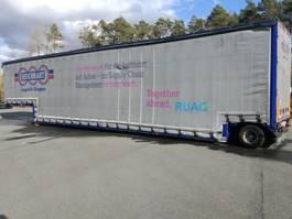 lowloader semi trailer Meusburger 1-Achs-Tiefbett mit Schiebeplanenaufbau 2013