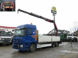 platform truck Mercedes-Benz Actros L6x2 Pritsche Heckkran Funk, 23m/to 2011