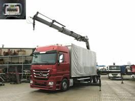 platform truck Mercedes-Benz Actros 2546 L 6x2 Pritsche Heckkran Fassi 560 ( 2010