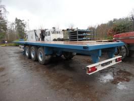 flatbed semi trailer Fruehauf 3-assige oplegger 1988