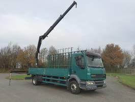 glass transporter lcv DAF 55 lf 280 euro 5 glastransporter met hiab 111 duo bj 2008 2008