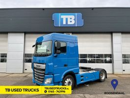 cab over engine DAF XF 450 FT Space Cab Blue PTO Used Skirts 2017