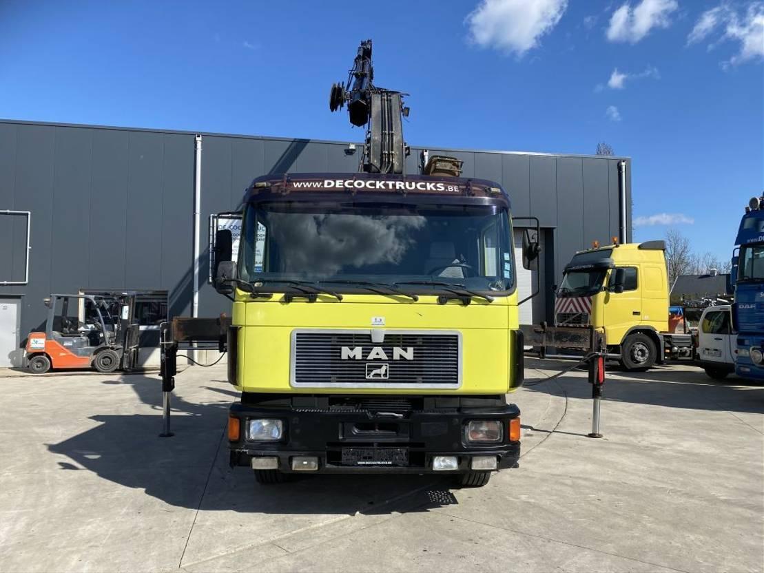 Container-LKW MAN 26.342 HAAKSYSTEEM + HIAB 300 X4 + JIB X3 1995