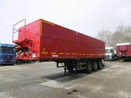 tipper semi trailer Kempf 3-Achs Mulde Rüben Auflieger ca.44m³ Lenkachse 2003