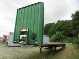 flatbed semi trailer Krone Plateau, Steckrungentaschen, Zurrösen Reifen gut 2004