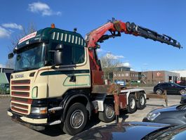 cab over engine Scania R480 8X4 MANUAL FULL STEEL + FASSI F800 BXP.26 MET REMOTE 2008