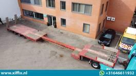 semi lowloader semi trailer Lintrailers 3-ass. Uitschuifbare semi dieplader met alu. Kleppen 2010