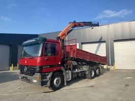 tipper truck > 7.5 t Mercedes-Benz ACTROS 2535 6X2 KIPPER+KRAAN PK 15500