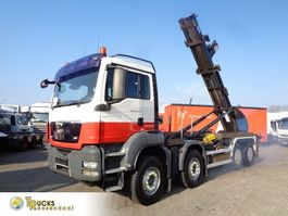 container truck MAN TGS 35.440 Manual + PTO + m-tec Hook system + 8x4 2009