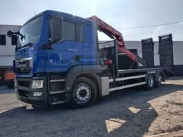 Ladebordwand LKW MAN TGS 26.320 Euro5 machinetransport + kraan HMF 1250 2011