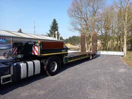 lowloader semi trailer Gheysen en Verpoort dieplader met verbreders en bladgeveerd
