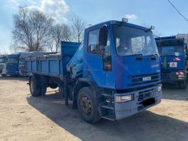 anderer LKW Iveco 170E23 Tipper+Crane.Manual Full Spring.In top 1996