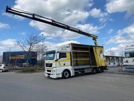 Pritsche / Plane LKW MAN TGS 26.440 6x2 Kran Palfinger Pk 18002 + Remote 2011