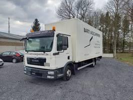 closed box truck MAN TGL 8 taillift/hayon - euro 5 - very good tyres