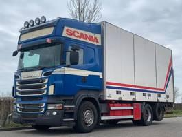 closed box truck Scania Scania R560 6x2 Side doors / Retarder / Airco / Topline 2011