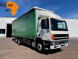 sliding curtain truck DAF 75.270  ATI  6x2 TEN TIRES STEEL 1997