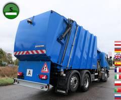 garbage truck Scania P320 DB 6x2 MNA Faun 526 Sidepress Rechtslenker 2012