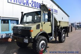 tipper truck > 7.5 t Unimog U1650 Kipper Atlas 100.1 Kran 5.&6. Steuerkreis 1999