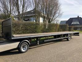 Minisattel Auflieger BE Oplegger Open laadbak - vlakke trailer 10 meter | Laadklep mogelijk. 2015