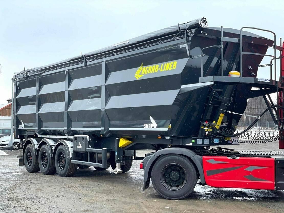 tipper semi trailer Stas HardoX Stahl 55 m³, AGRAR-LINER, Mieten ? 2021