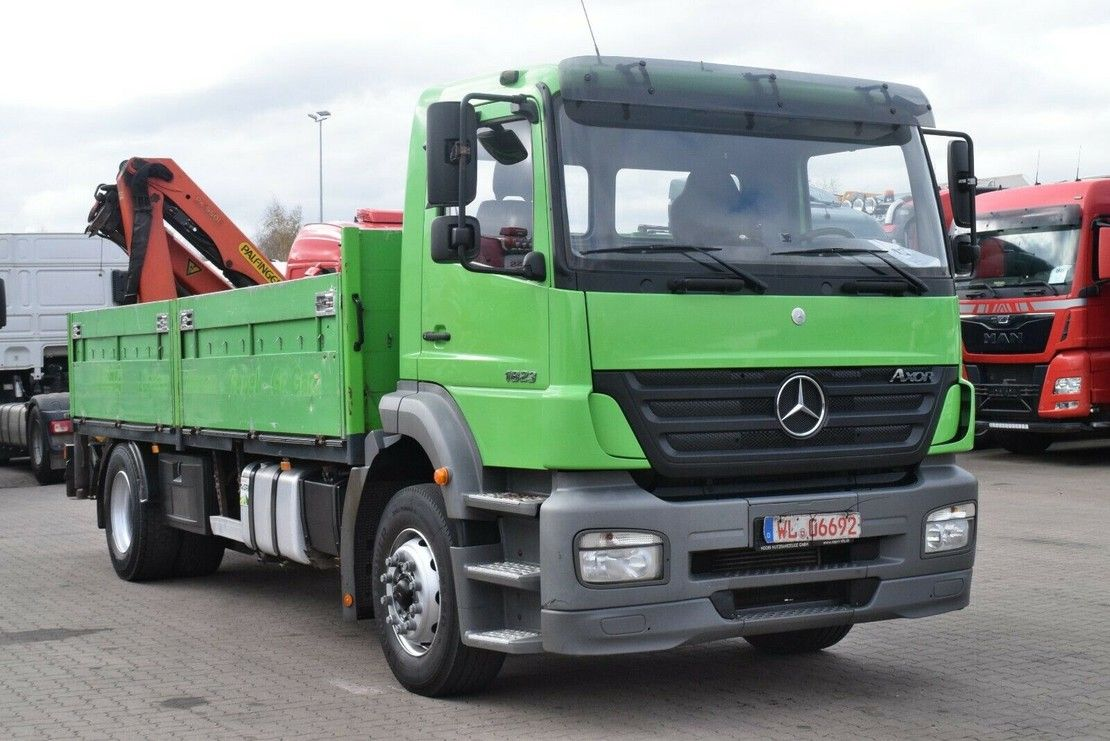 crane truck Mercedes-Benz Axor 1823 Baustoff Palfinger PK9501 2006