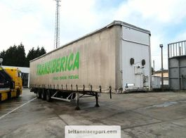Schiebeplanenauflieger Fruehauf full steel frame tri axle 34 ton with lifting roof. 1994