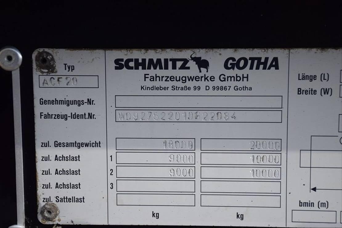 Container-Fahrgestell Auflieger WAF 2 ASSEN 2001