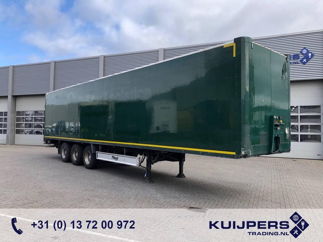 Kofferauflieger Fliegl SDS 390 / 3 axle Disk / Box / Loadlift / Room Damage Dach Schade 2008