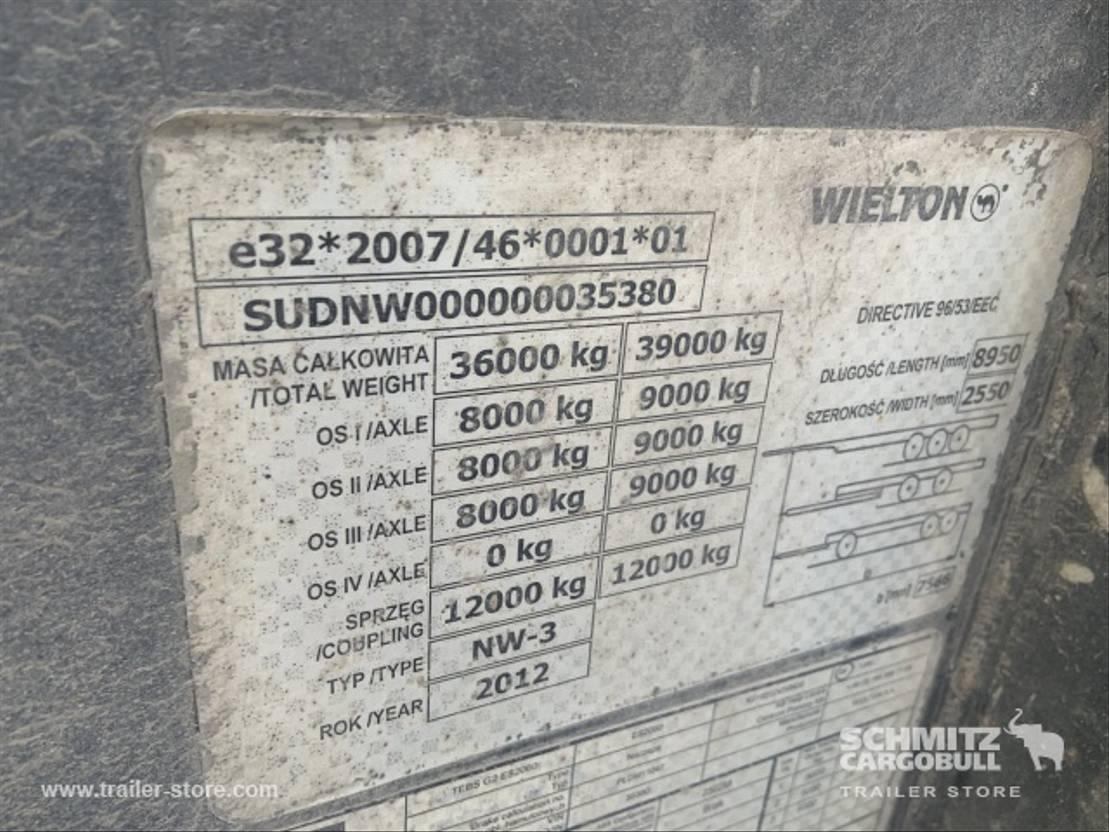 Kippauflieger Wielton Semitrailer Tipper Steel half pipe body 27m³ 2013