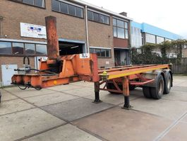 container chassis semi trailer Van Hool 20 ft. kip chassis 1982