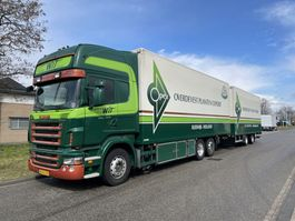 closed box truck Scania R 420 flowercomby 2008